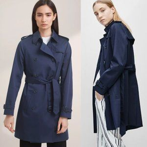 Babaton Navy Military Style Oliver Trench Coat